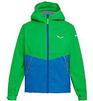 Salewa Puez 2 - giacca hardshell - bambino, Green/Light Blue
