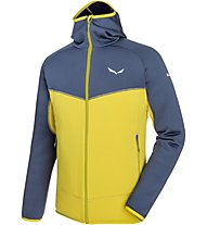 Salewa Puez 3 - giacca in pile - uomo, Yellow/Blue