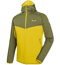 Salewa Puez 3 - giacca in pile - uomo, Green/Yellow