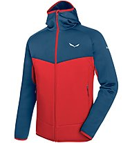 Salewa Puez 3 - giacca in pile - uomo, Red/Blue