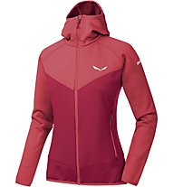 Salewa PUEZ 3 PL - Fleecejacke mit Kapuze - Damen, Red