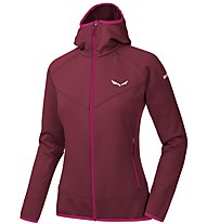 Salewa PUEZ 3 PL - Fleecejacke mit Kapuze - Damen, Dark Red