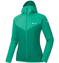 Salewa PUEZ 3 PL - Fleecejacke mit Kapuze - Damen, Dark Green