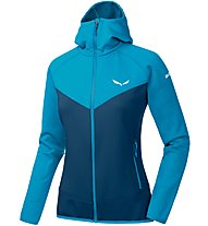 Salewa PUEZ 3 PL - Fleecejacke mit Kapuze - Damen, Light Blue/Blue