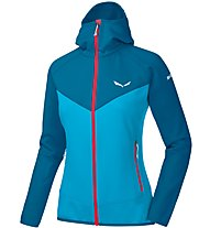 Salewa PUEZ 3 PL - Fleecejacke mit Kapuze - Damen, Blue/Light Blue