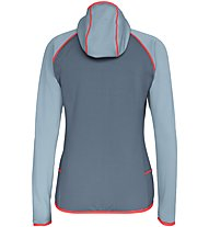 Salewa Puez 3 - giacca in pile - donna, Grey/Light Grey/Red