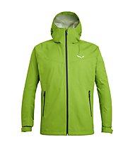 Salewa Puez (Aqua 3) - giacca a vento trekking - uomo, Green/Grey