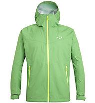 Salewa Puez (Aqua 3) - giacca a vento trekking - uomo, Green/Yellow