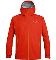 Salewa Puez (Aqua 3) - giacca a vento trekking - uomo, Red/Orange