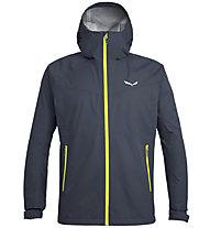 Salewa Puez (Aqua 3) - giacca a vento trekking - uomo, Dark Blue/Yellow