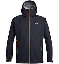 Salewa Puez (Aqua 3) - giacca a vento - uomo, Dark Blue/Orange