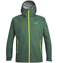 Salewa Puez (Aqua 3) - giacca a vento - uomo, Dark Green/Yellow