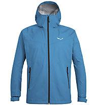 Salewa Puez (Aqua 3) - giacca a vento - uomo, Light Blue/Black