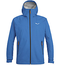 Salewa Puez (Aqua 3) - giacca a vento - uomo, Light Blue/Black/Orange