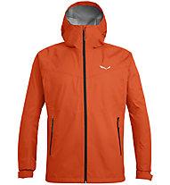 Salewa Puez (Aqua 3) - giacca a vento - uomo, Orange/Black/Orange
