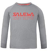 Salewa Puez Baselayer Dry K - maglia a maniche lunghe - bambino, Grey/Orange
