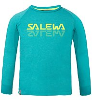Salewa Puez Baselayer Dry K - maglia a maniche lunghe - bambino, Light Blue/Yellow