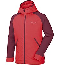 Salewa Puez Biki -  Fleecejacke mit Kapuze - Kinder, Red