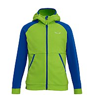 Salewa Puez Biki -  Fleecejacke mit Kapuze - Kinder, Light Green/Blue