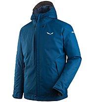 Salewa Puez Clastic PTX 2L - giacca con cappuccio - uomo, Blue