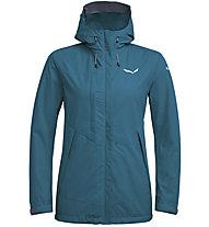 Salewa Puez Clastic PTX 2L - giacca con cappuccio trekking - donna, Blue/White