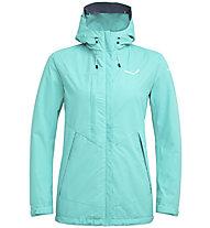 Salewa Puez Clastic PTX 2L - giacca con cappuccio trekking - donna, Azure