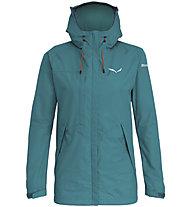Salewa Puez Clastic PTX 2L - giacca con cappuccio trekking - donna, Green