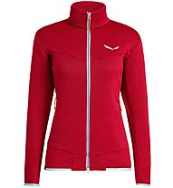 Salewa Puez Clastic Zip-In Pl W Fz - giacca in pile - donna, Red