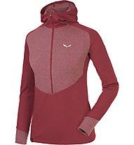Salewa Puez Dry - Pullover mit Reißverschluss Trekking - Damen, Red