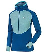 Salewa Puez Dry - Pullover mit Reißverschluss Trekking - Damen, Light Blue