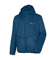 Salewa Puez Furry - Fleecejacke mit Kapuze - Kinder, Blue