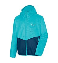 Salewa Puez Furry - Fleecejacke mit Kapuze - Kinder, Light Blue