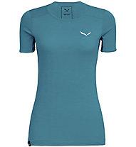 Salewa Puez Graphic 2 Dry - T-shirt trekking - donna, Light Blue