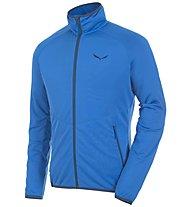 Salewa Puez Grid PL - giacca in pile trekking - uomo, Blue