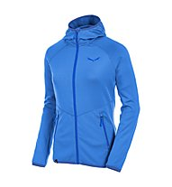 Salewa Puez Grid PL W Full-Zip Hoody - giacca pile dona, Royal Blue