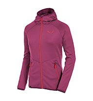 Salewa Puez Grid PL W Full-Zip Hoody - giacca pile dona, Red Onion
