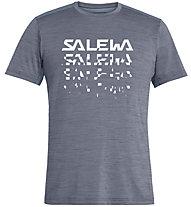 Salewa Puez Hybrid 2 Dry - T-Shirt Trekking - Herren, Grey/White