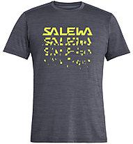 Salewa Puez Hybrid 2 Dry - T-Shirt Trekking - Herren, Blue/Yellow