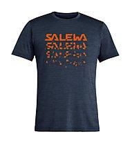 Salewa Puez Hybrid 2 Dry - T-Shirt Trekking - Herren, Dark Blue/Orange