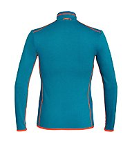 Salewa Puez Hybrid PL - Fleecejacke Trekking - Herren, Blue/Orange