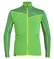Salewa Puez Hybrid PL - giacca in pile - uomo, Green/Yellow