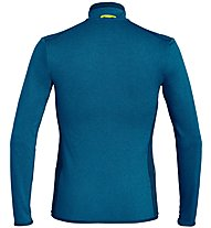 Salewa Puez Hybrid PL - giacca in pile - uomo, Blue/Yellow