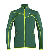 Salewa Puez Hybrid PL - Fleecejacke Trekking - Herren, Dark Green/Yellow