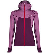 Salewa Puez Hybrid - Fleecejacke mit Kapuze Trekking - Damen, Pink/Violet/Red
