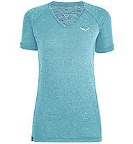 Salewa Puez Mel Dry - T-shirt - donna, Azure/White
