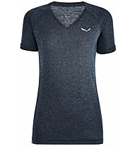 Salewa Puez Mel Dry - T-shirt - donna, Dark Blue/White
