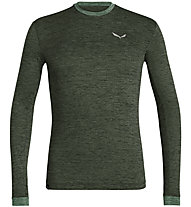 Salewa Puez Melange Dry - Langarmshirt Wandern - Herren, Dark Green