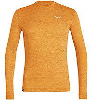 Salewa Puez Melange Dry L/S - maglia a maniche lunghe - uomo, Orange