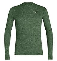 Salewa Puez Melange Dry - Langarmshirt Wandern - Herren, Dark Green/White