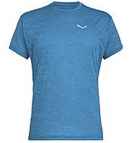 Salewa Puez Melange Dry - Funktionsshirt kurz - Herren, Blue Melange